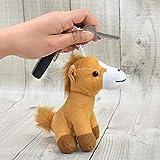 Familienkalender Llavero de caballo marrón de peluche de 15 cm | Amor | Regalo | Smile | Kiss | Corazón | Decoración | caballo | potro | marrón