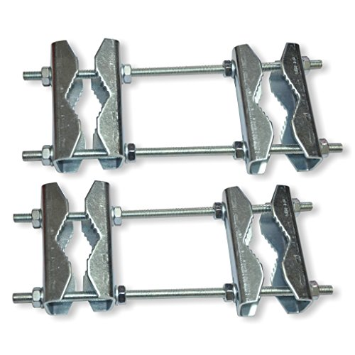 Unitech 2 Stück Doppelrohrschellen DRS 89 - Stahl - für Masten bis 89mm
