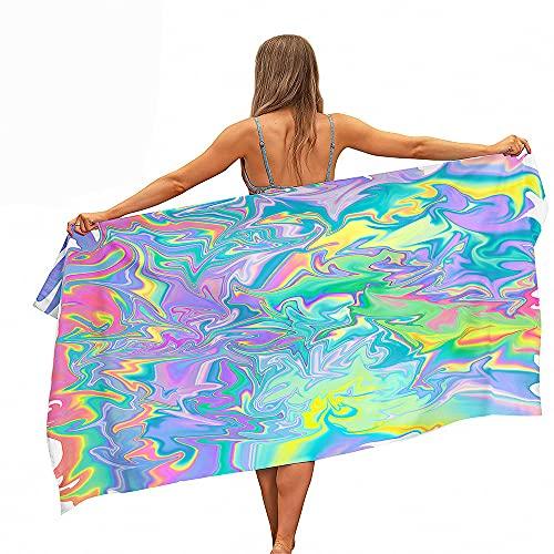 Stillshine. Grande Toallas Playa Toallas Baño Absorción Agua Secado Rápido Microfibra XL XXL Representación Arcoíris Tema Toalla Niño Gente Joven Hombre Manta (Color5,100x180cm)