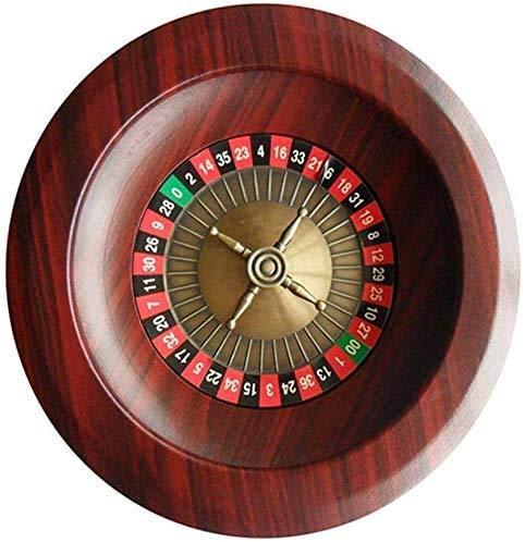 Xuanku Productos de Juegos de Mesa de 12 Pulgadas, Rueda de Ruleta del Casino Madera de Calidad, Entretenimiento para Adultos y de Entretenimiento, Mesa de Ruleta