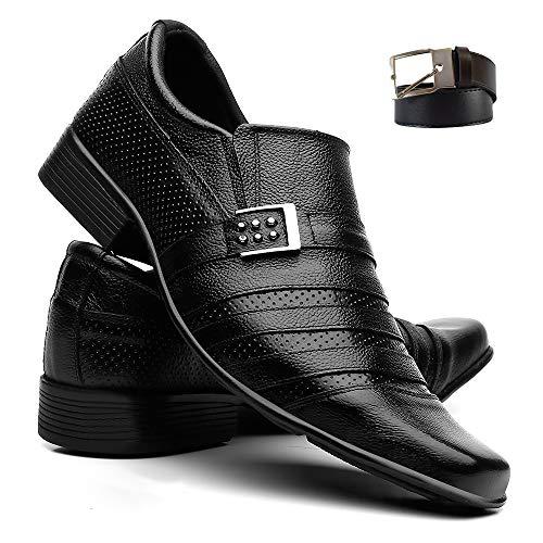 Sapatos Social Masculino Em Couro SV Fivela Preto 39