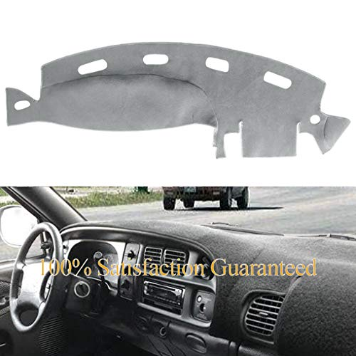 Dashboard Cover Dash Cover Mat Pad Custom Fit for Dodge Ram 1500 2500 3500 1998 1999 2000 2001 (Ram 98-01, Gray) Y21