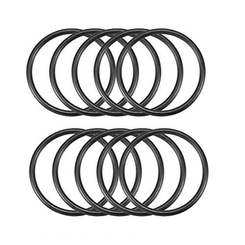 O-Ring-Dichtung, Gummi, Öl-Dichtringe, 29 x 25 x 2 mm, Schwarz, 10 Stück de