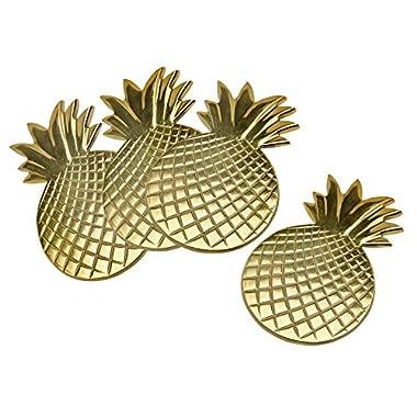 Godinger Silver Art S/4 Gold Pineapple Coasters