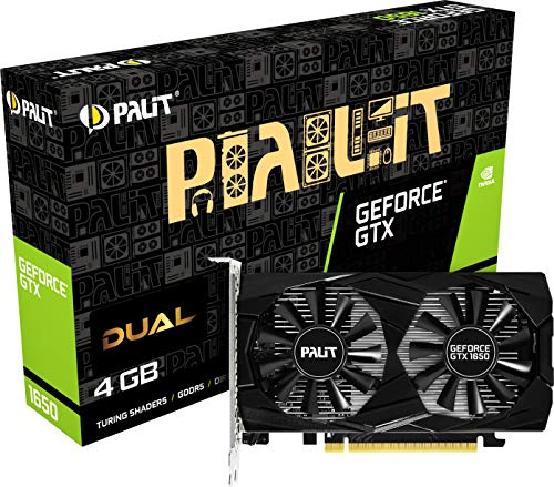 Palit GeForce GTX 1650 Dual 4GB GDDR5 Grafikkarte 2xDP/HDMI