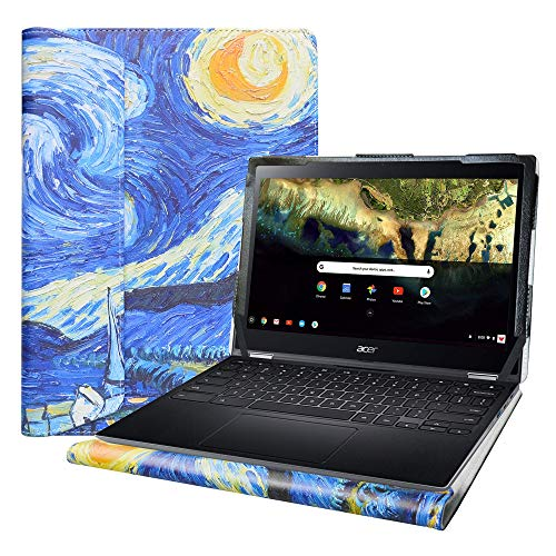 Alapmk Specialmente Progettato PU Custodia Protettiva per 11.6  Acer Chromebook Spin 511 R752TN CHROMEBOOK Spin 311 R721T Chromebook 311 C721 Laptop(:Not Fit Chromebook Spin 11 CP311),Starry Night