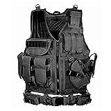 beautygoods Veste Tactique extérieure Costume d'armée de Campagne, Paintball Gaming Gilet Équipement Protecteur pour la Chasse Police Le Gilet d'entraînement en Plein air léger Gilet d'entraînement