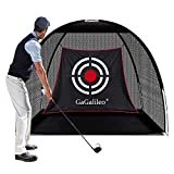 Gagalileo Golf Net Golf Hitting Nets Training Aids Practice Nets for Backyard Driving Range 6.8'(L) X4.9'(H) X3.2'(W) with Target Carry Bag for Indoor Outdoor Sports