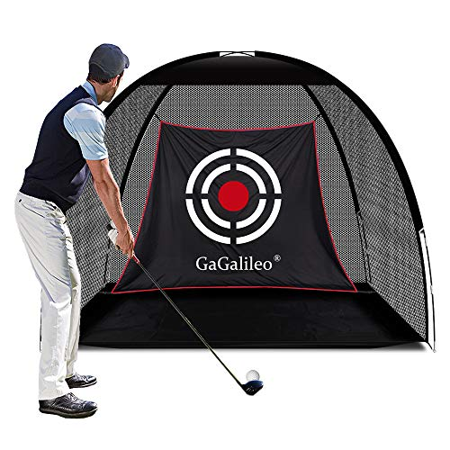 Golf Net Golf Hitting Net for Backyard Golf Home Driving Range Practice Golf Indoor Golfing Net Game 6.8x4.9x3.2FT with Carry Bag and Target