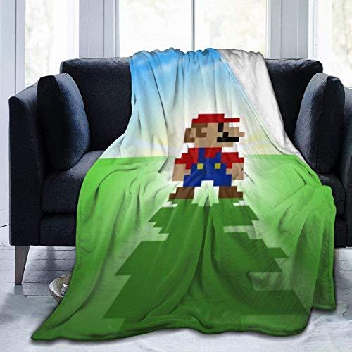'N/A' Juego Super Mario - Manta suave y cálida de franela de terciopelo antibolitas, fácil de cuidar, 60 x 50 pulgadas