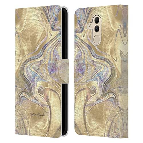 Head Case Designs Licenza Ufficiale Nature Magick Luce Oro Sirena Rosa Oro Marmoreo Cover in Pelle a Portafoglio Compatibile con Huawei Mate 20 Lite
