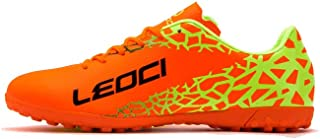 LEOCI Performance Turf Soccer Shoes - Men and Boy Soccer Shoes Indoor Soccer Cleat