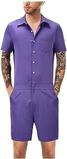 Mogogo Men's Short Sleeve Summer Hawaii Relaxed Shirt Top with Shorts