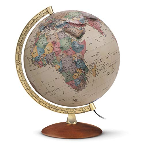 """Waypoint Geographic Light Up Globe with Raised Relief - Athens Relief 12"""" Desk Decorative..."""