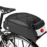 HJGHY Fahrradtaschen Gepäckträger 10L große Kapazität Fahrradkoffer Wasserdicht Fahrradtasche zum Radfahren Gepäck Zubehör