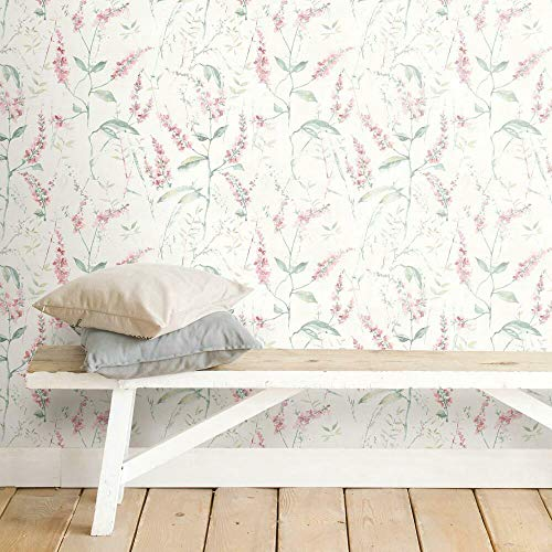 RoomMates Floral Sprig Peel and Stick Wallpaper