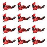 HanOBC 12 piezas artificiales de Navidad cardenales pájaros...