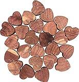 M-Home | Lot de 25 Mini Cœurs Antimites | Bois | Cèdre Rouge | 25 mini-cœurs | ANTIMITE HEART | CED61625