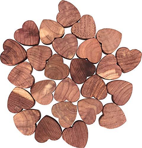 Mondex CED61625-00 25Stück Mini-Herzen, Mottenschutz, aus Zedernholz, rot, 19x14x3cm