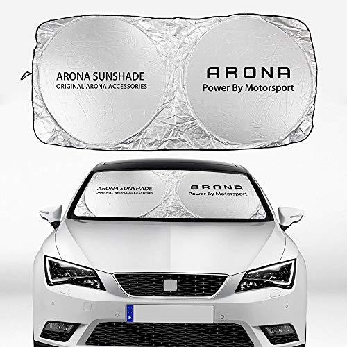 Parasol Coche Coche parabrisas Sombrilla Compatible con Seat Alhambra Altea Arona AROSA ATECA CORDOBA EXEO IBIZA 6J 6L LEON MK2 MK3 TARRACO TOLEDO MII Cortina de malla para coche ( Color : For Arona )