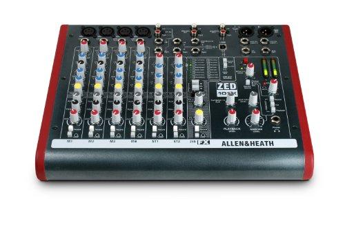 Allen & Heath ZED-10FX Four Mono Mic/Lines mit 2 aktiven D.I., 3 Stereo-Line-Eingängen und Onboard-Effekten