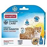 BEAPHAR – DIMÉTHICARE – Pipettes stop parasites pour chaton – Contre puces, tiques et poux – Sans pesticide et sans insecticide chimique – Durée 2 mois – Dès l'âge de 2 jours – 6 pipettes