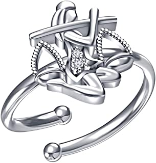 2heart Womens 14K White Gold Fn .925 Sterling Silver Shooting Stars Adjustable Toe Ring