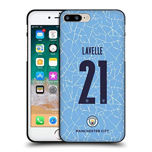 Head Case Designs Oficial Manchester City Man City FC Rosa Lavelle 2020/21 Kit Hogar Mujer Grupo 2 Funda de Gel Negro Compatible con Apple iPhone 7 Plus/iPhone 8 Plus
