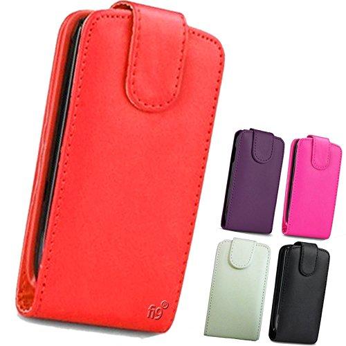 Fi9–Funda con tapa PU Funda de piel con tapa para Sony Xperia teléfonos móviles + Protector de pantalla, piel sintética, Red, Xperia E3 D2203 D2206 D2243