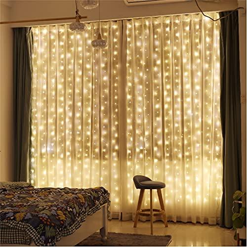 Curtain Lights, ZSJWL 300 LED Curtain Fairy Lights with...