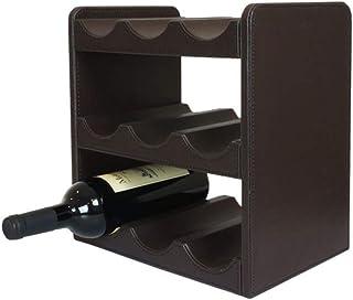 ZLJ Casier à vin à 3 Niveaux Support de Rangement de Cuisine Ensemble de vin Collection Rack 9 Bouteilles