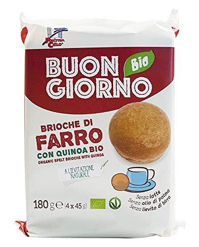La Finestra sul Cielo Brioche di Farro con Quinoa Bio - 6 Confezioni da 180 gr