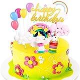 Decoracion Tarta Unicornio, Familybox Decoraciones de Pasteles Unicorn Cake Topper para la Fiesta de...