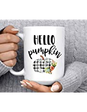 Kaffekopp | Hallo pumpa | mugg | Pumpakopp | Höstmugg | God morgon pumpa | Trevlig mugg | Halloween-mugg