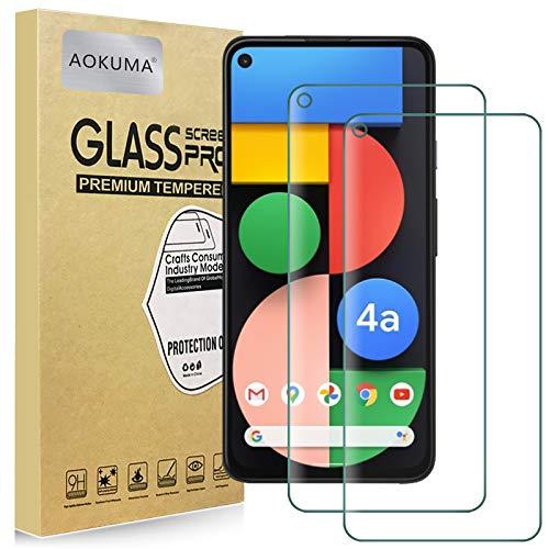 AOKUMA für Google Pixel 4A 5G Panzerglas, 【2 Stücke】Glas kompatibel mit Google Pixel 4A 5G Schutzfolie, Premium Glasfolie mit 9H Festigkeit, Anti Kratzer, Splitterfest,Anti-Öl, Anti-Bläschen
