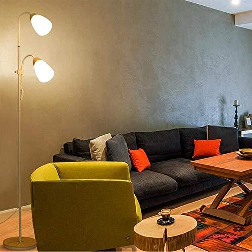 YUQIYU Piso Luces Luces hija interruptor doble ajustable simple de ángulo Woody pie luminarias de Luz Salón Mesa moderna incluido 2 (Color : 2)