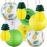 Tacobear Hawai Deko Tropische Sommer Ananas Party Deko Hängende Ananas Wabenball Ananas...