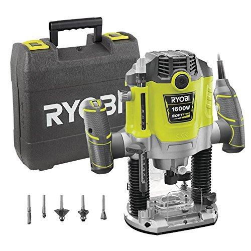 Ryobi 5133002421 Oberfräse Typ RRT1600-K, 1600 W, Schwarz, Gelb