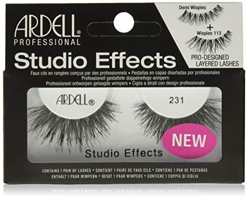 Ardell Professional Studio Effects Lashes, wiederverwendbare Wimpern aus Echthaar für einen unwiderstehlichen Look (ohne Wimpernkleber), handgefertigt und ultradünn (Style 231)