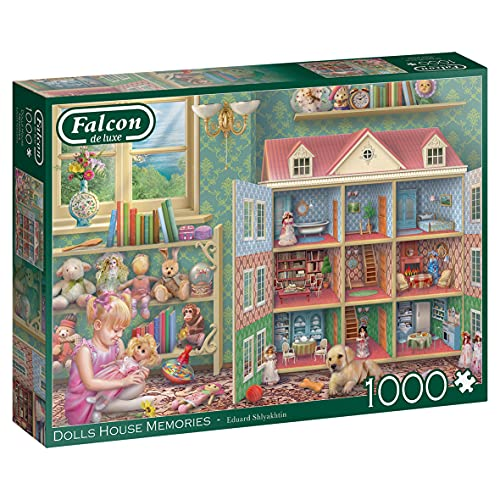 Jumbo Luxe-Dolls House Piece Jigsaw Puzzle 11276 Falcon de Lujo-Muñecas Memories 1000 Piezas Rompecabezas, Multicolor (J11276)