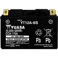 台湾製 バイクバッテリー 国内液入 初期補充電済 YUASA 純正互換品 (YT12A-BS / FT12A-BS / FTZ9-BS 互換)
