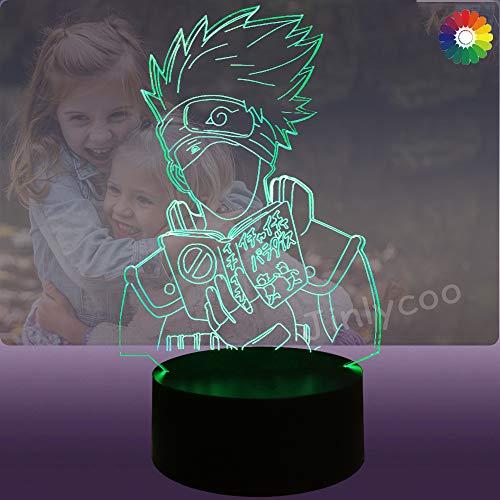 Kakashi - Luz nocturna 3D para niños con pilas en 3D