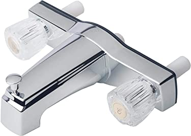 "Laguna Brass 3310ACP Mobile Home Two Handle Non-Metallic 8"" Tub Shower Diverter, 8"", Chrome Finish"