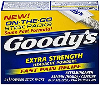 Goody's Extra Strength Powders | Fast Pain Relief | Aspirin & Caffeine | 50 Count | 3 Pack