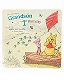 UK Greetings Disney Winnie The Pooh Grandson 1st Birthday Card - Grandson Birthday Card - 1st Birthday Boy Card