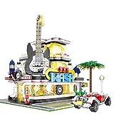 Juegos De Construcción De Casas Modulares, Juego De Construcción De Guitar House con Iluminación LED, Bloques De 2168 Piezas Compatibles con Lego,El Modelo De Construcción No Es Creado por Lego
