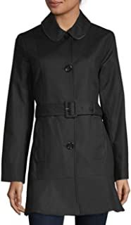 Kate Spade New York Belted Trench Coat Black XL