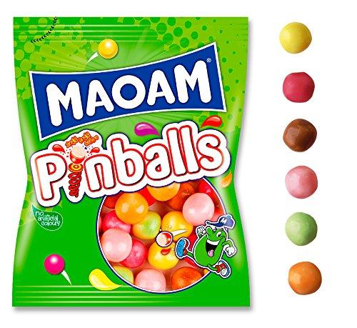 Haribo Maoam Pinballs Caramelos - 160 gr, pack de 12