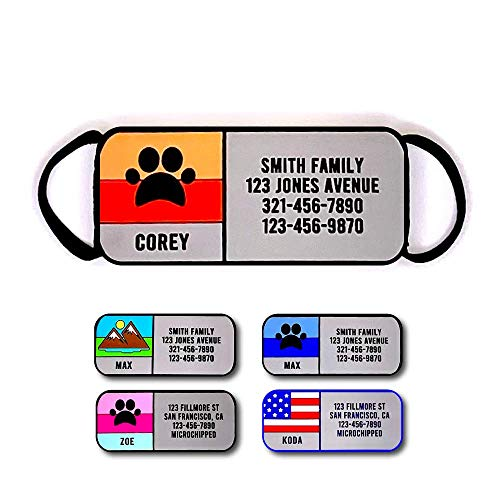 Love Your Pets Soundless Slide-On Collar Dog ID Tag - Designer Deep Engraved Silicone – Engraving Will Last - Pet ID Tags, Dog Tags, Cat Tags (Paw - Orange, Large)