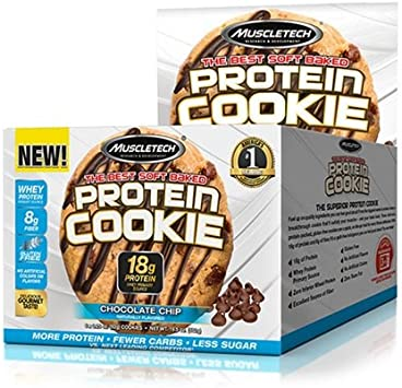 Muscletech Galletas Proteína 6, Chips de Chocolate 550 g ...